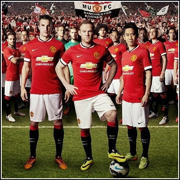 Man United's Home Kit 14-15