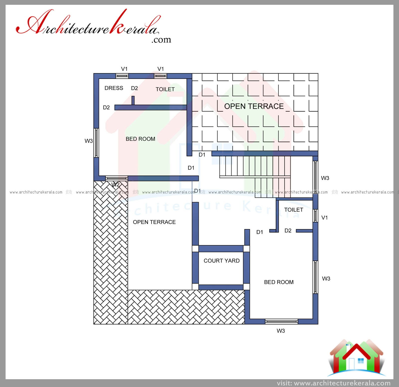 2000 square feet house plan and elevation architecture for House floor plans 2000 square feet