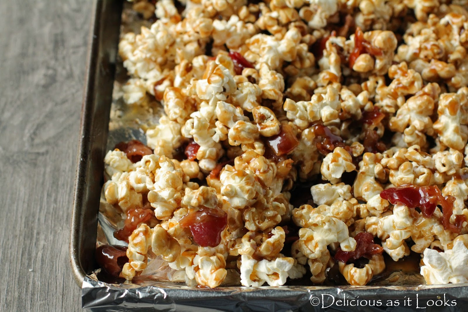 Bacon Bourbon Caramel Corn  /  Delicious as it Looks