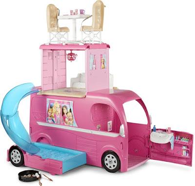JUGUETES - Barbie : Pop-Up Camper - Caravana | Camping  Producto Oficial 2015 | Mattel CJT42 | A partir de 3 años  No incluye Muñecas | Comprar en Amazon