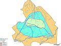 Cover Onderzoek grondwaterbalans provincie Drenthe. Figuur 4.1 Begrenzing deelgebieden 1 tot en met 3