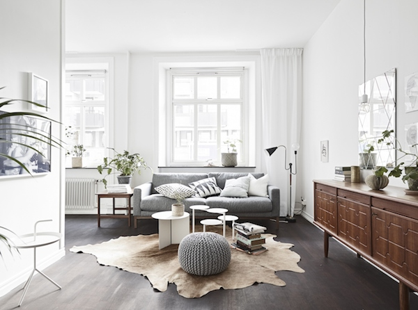 a striking dark and white swedish space my scandinavian home bloglovin. Black Bedroom Furniture Sets. Home Design Ideas
