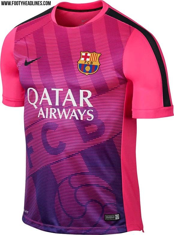 detail berita bocoran Jersey Prematch Barcelona terbaru musim depan 2015/2016