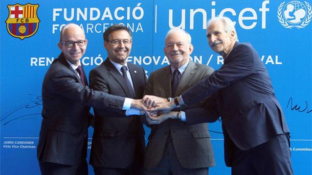El FC Barcelona y UNICEF caminarán juntos hasta 2020