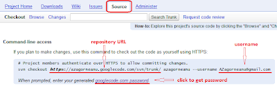 Google Code Source Page
