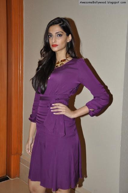 sonam kapoor hot pics in stylish dress