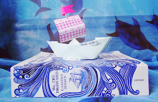 bookandacuppa, book and a cuppa, book & a cuppa, We the drowned, book cover, ship, war, sailing, book cover, photograph, blue, pretty, sad, top 10, Dannish