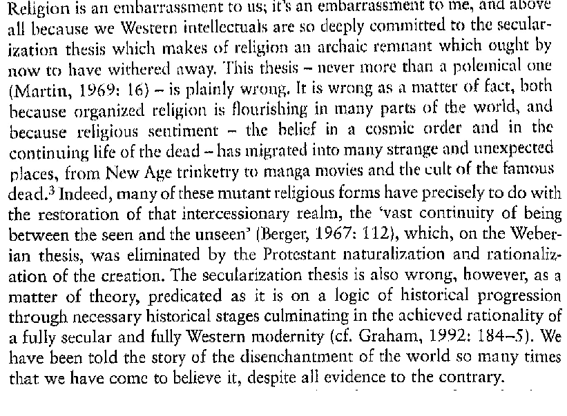 What is secularization thesis