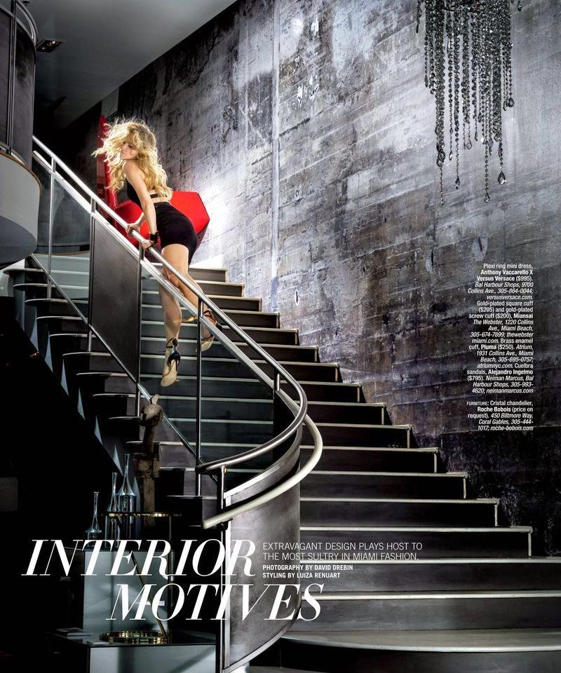 Model: Kristy Goretskaya For Ocean Drive USA, Interior Motives