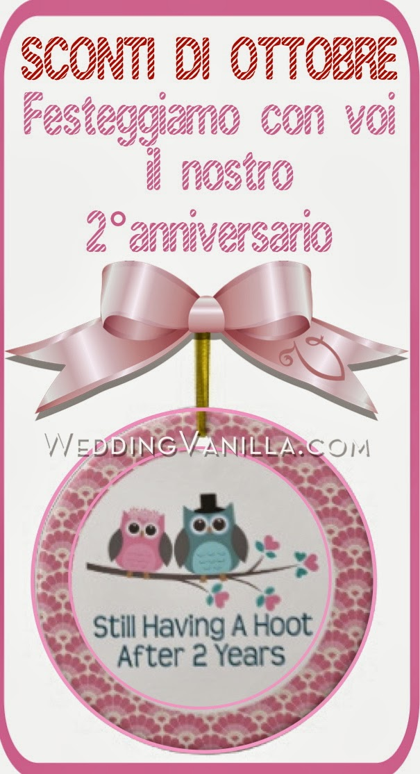 Secondo anniversario Vanilla Wedding Design: