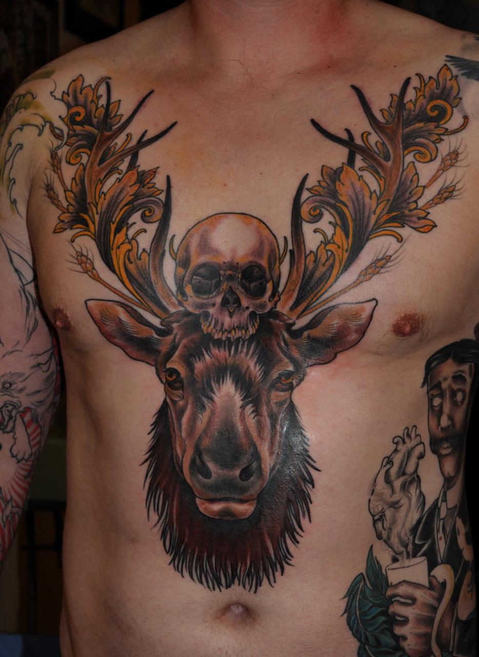 Evil Skull Tattoo Designs for Men