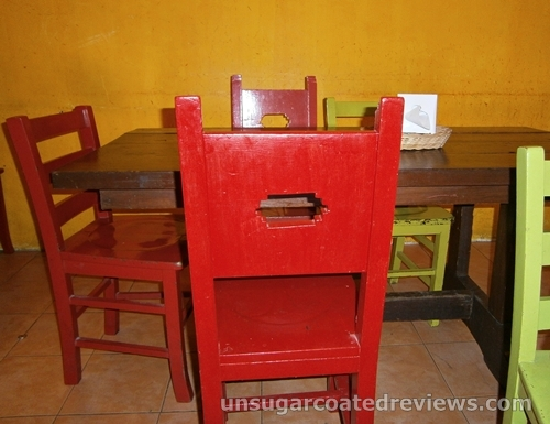 colorful chairs at Mexicali in Robinson's Place Ermita Manila
