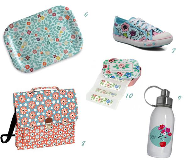 Sélection objets fleuris pour enfants