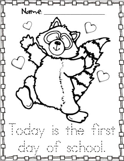 the kissing hand coloring pages - photo#3