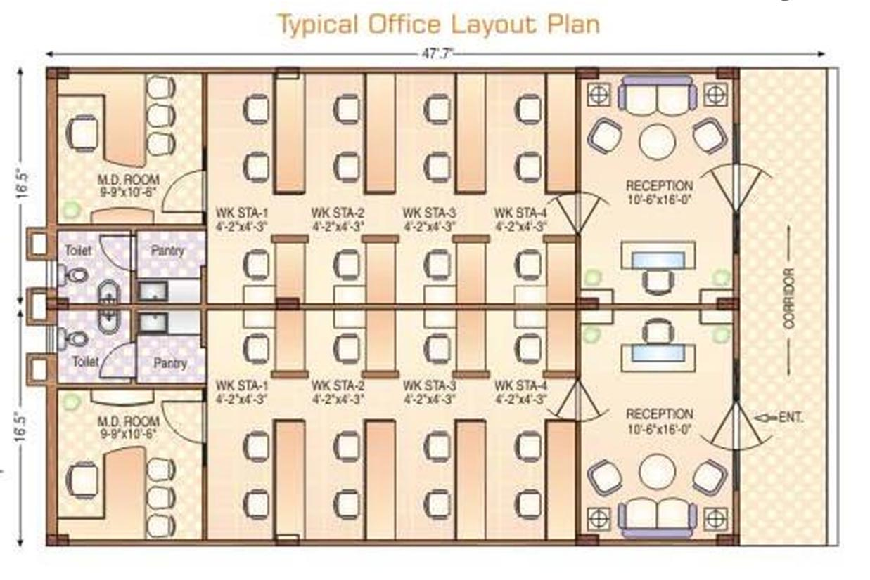 Foundation dezin decor office plan furniture layout for Office desk layout planner
