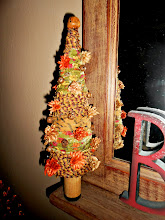 AUTUMN THEMED RAG TREE WITH RUSTY BELLS