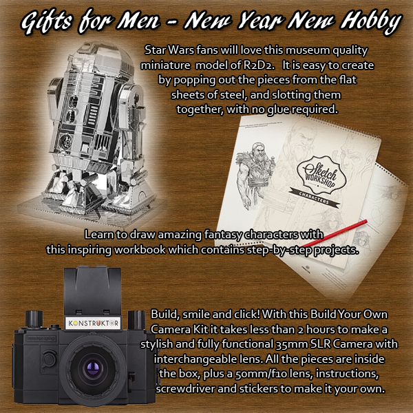 My top gifts for men - hobby kits