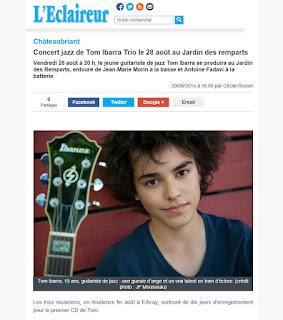 http://www.leclaireurdechateaubriant.fr/2015/08/27/chateaubriant-concert-jazz-de-tom-ibarra-trio-le-28%c2%a0aout-au-jardin-des-remparts/