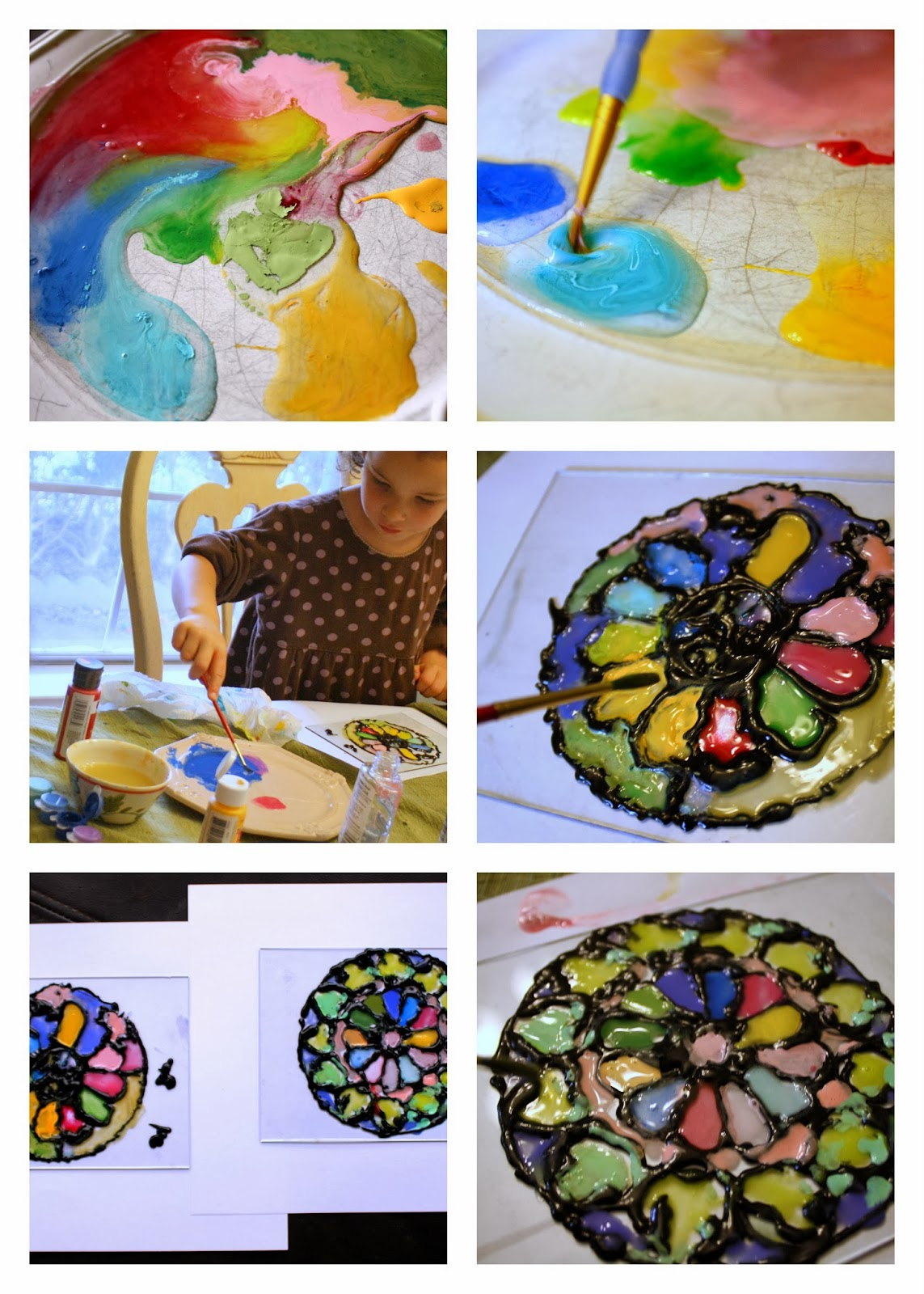Having fun at home stained glass kids medieval project for How to learn glass painting at home