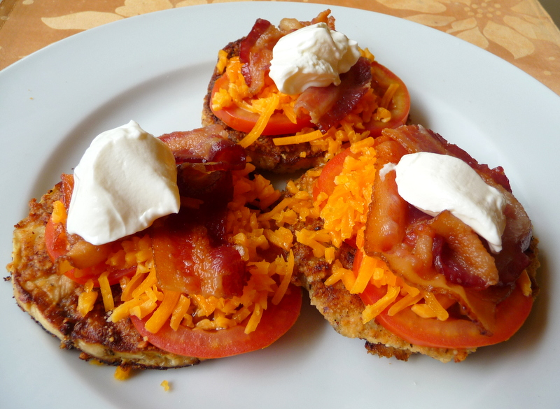 "... BY JENNIFER ELOFF: BACON, CHEESE AND TOMATO OPEN-FACED ""SANDWICHES"