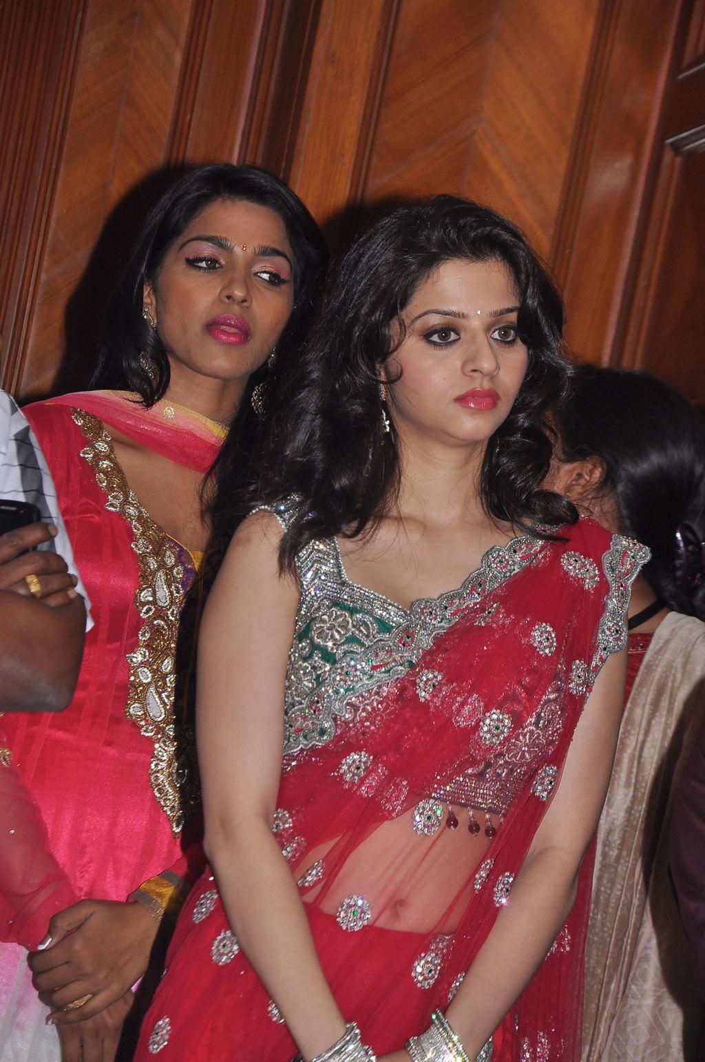 Vedika in red hot saree
