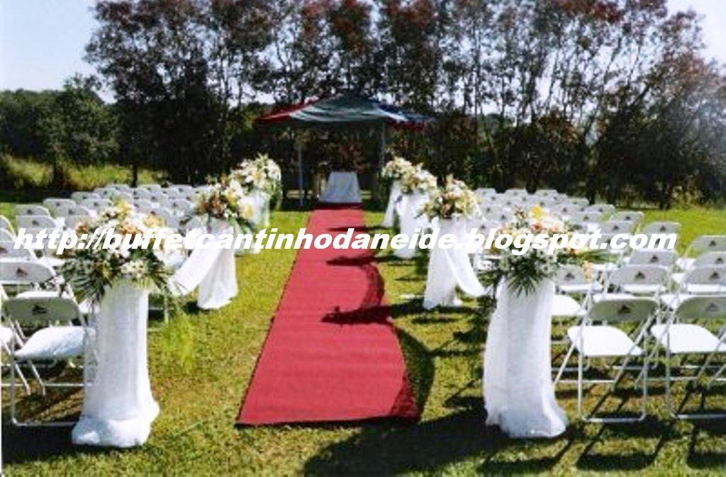 decoracao para casamento em sitio:Buffet Cantinho da Neide – Galeria: Decoração de Casamento em Sítio