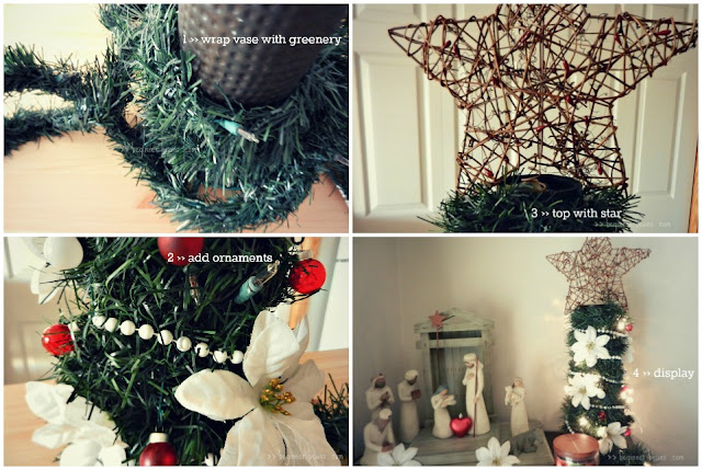 how to make a mini christmas tree