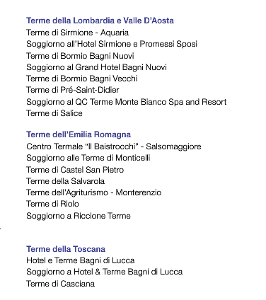 Travel Around: Andare gratis alle terme con i punti Esselunga!!