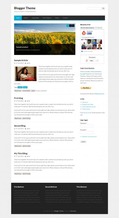 Blogger - Free Drupal Theme