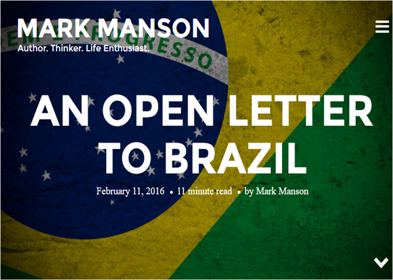 BRAZIL ACCORDING MARK MANSON