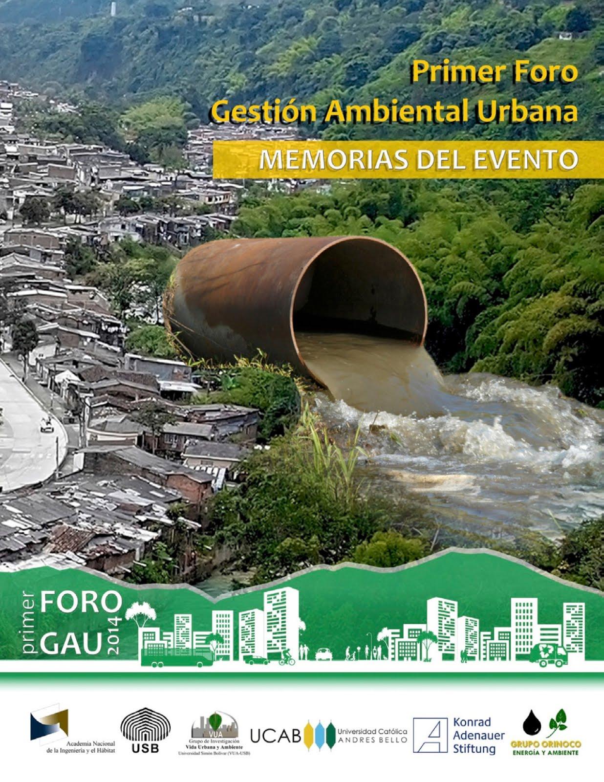 Primer Foro Gestión Ambiental Urbana
