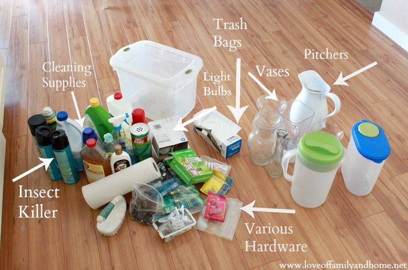 Cleaning & Organizing Under The Kitchen Sink - Love of Family & Home