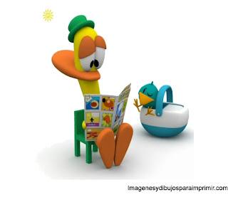 imagen de dibujo de pato pato de pocoyo para imprimir