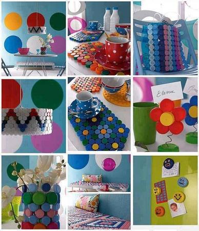 Ideas para reciclar tapas de botellas - Ideas para reciclar ...