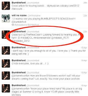 Yoda Idol: Gitaris Guns N Roses [GNR] NgeTweet di Twitter Dukung Yoda » Ngefans Sama Yoda Idol