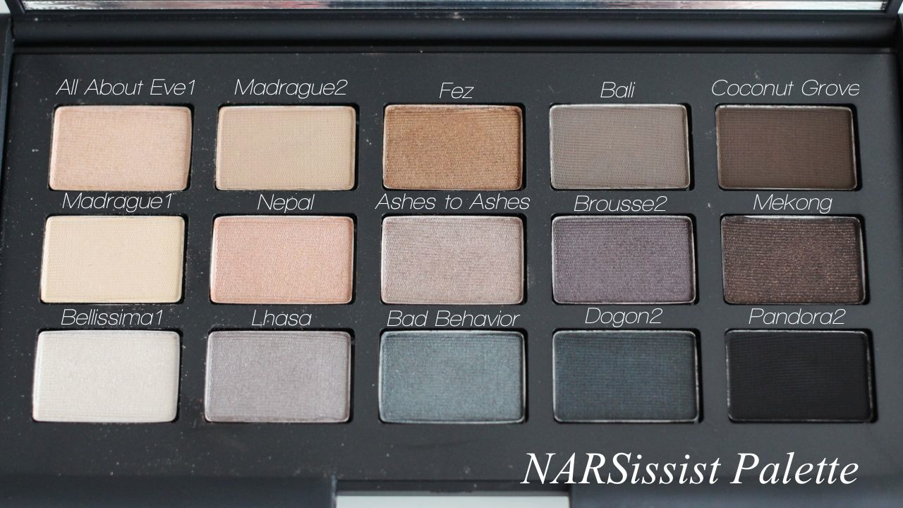 NARSissist Palette Eyeshadow Name