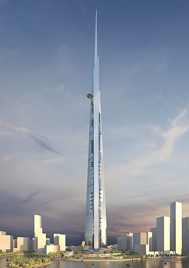 Photo of Kingdom Tower, new world's tallest building to be built in Jeddah, Saudi Arabia