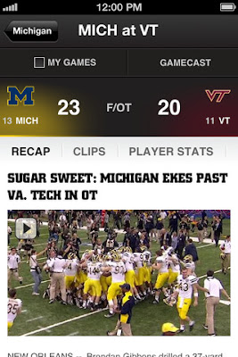 espn ncaa football scores mobile college footvall