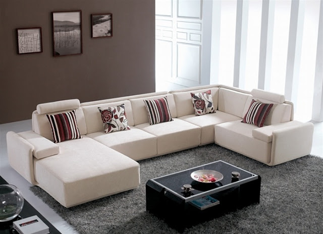 Home furniture and patio contemporary living room for Sofas grandes modernos