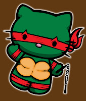 Hello Kitty in Teenage Mutant Ninja Turtle costume