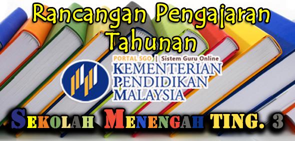 RPT Rancangan Pengajaran Tahunan Tingkatan 3 Subjek Matematik