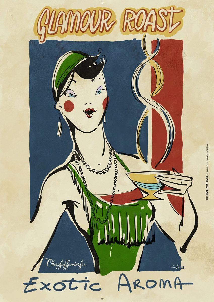 Curio and Co. Curio & Co. www.curioanco.com - Oberpfaffendorfer poster series - Cesare Asaro - Glaumour Roast - Coffee