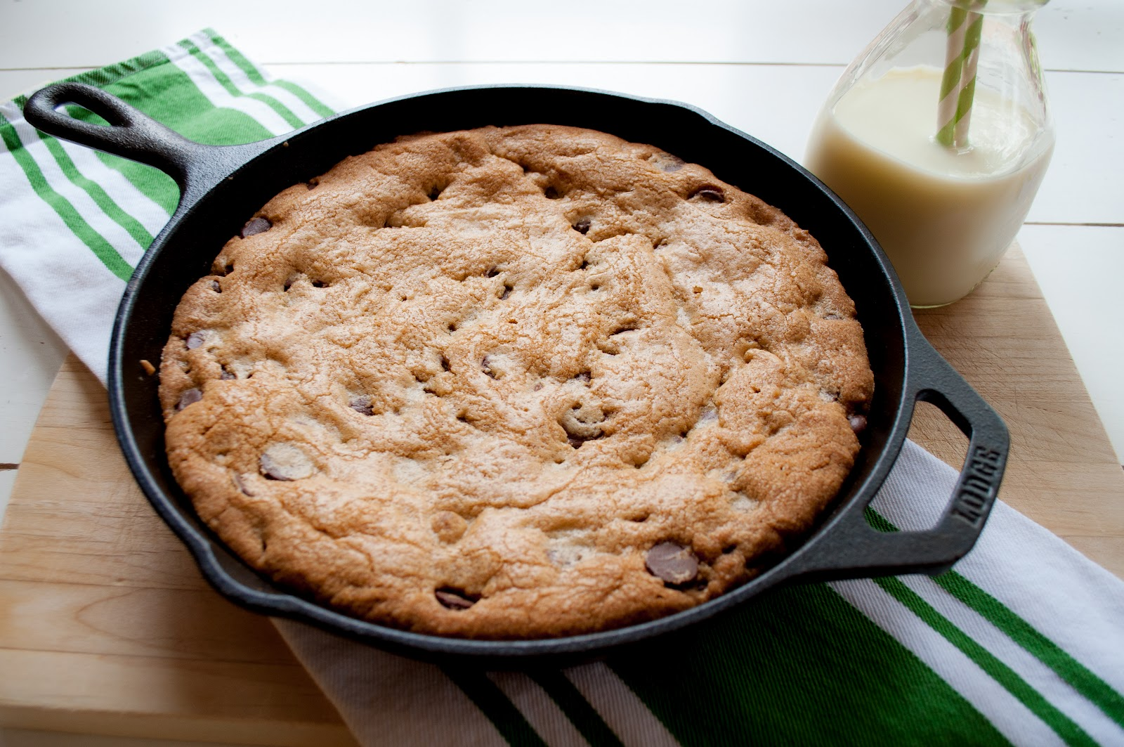 skillet-baked chocolate chip cookie - Marin Mama Cooks