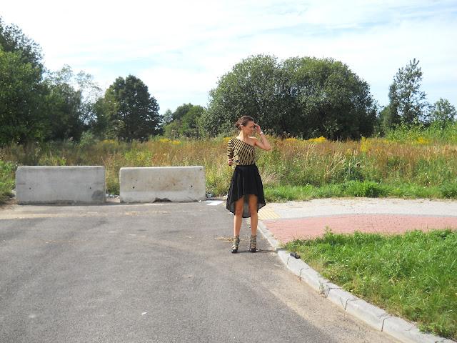 DIY - spódnica asymetryczna, spódnica plisowana, asymetryczna bluzka, jak zrobić asymetryczną spódnicę?