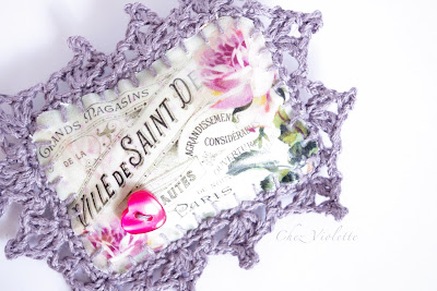 lace romantic brooch by Chez Violette