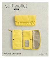 Miche Soft Yellow Wallet