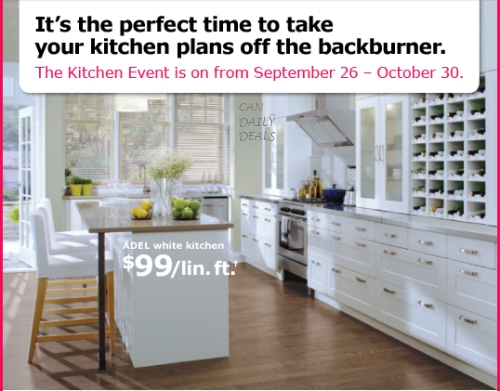 Canadian Daily Deals Ikea Canada Kitchen Event Get 10 20