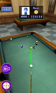 Screenshots of the 3D Billiards G for Android tablet, phone.