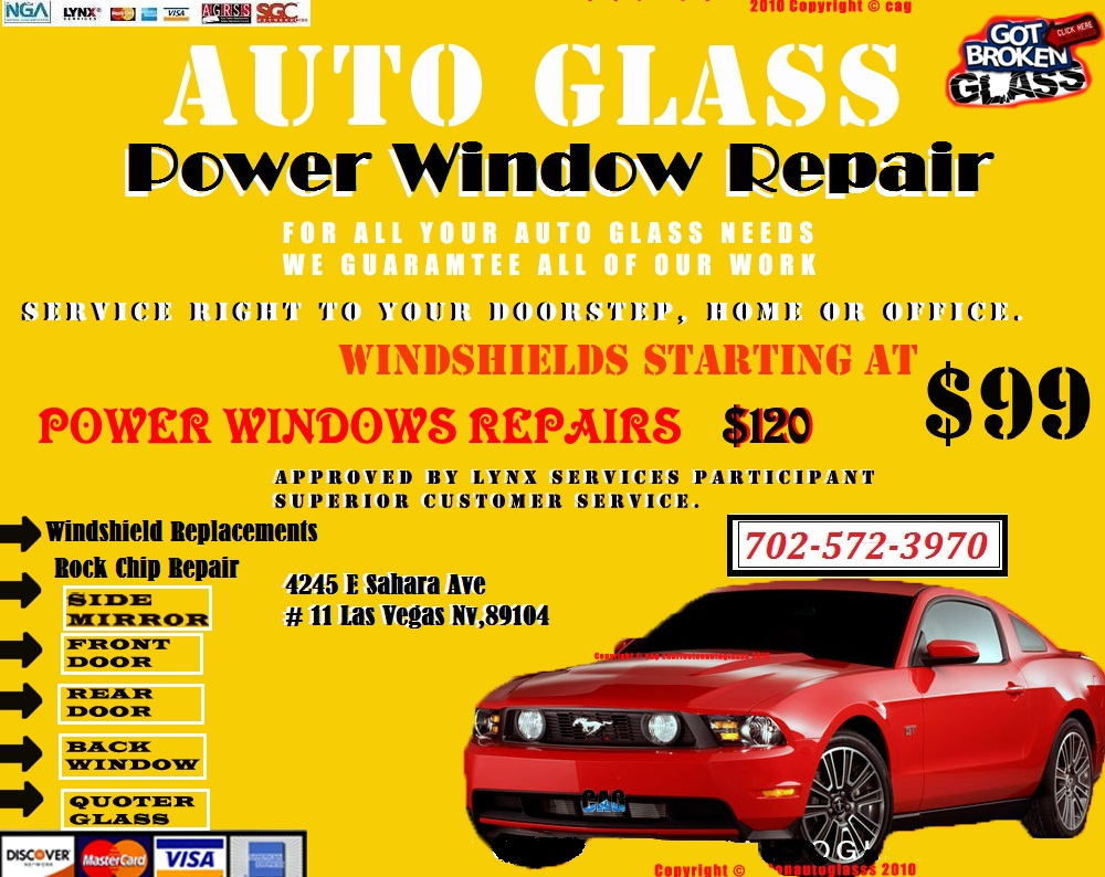Cheap Auto Glass Prices And Power Windows Repairs.