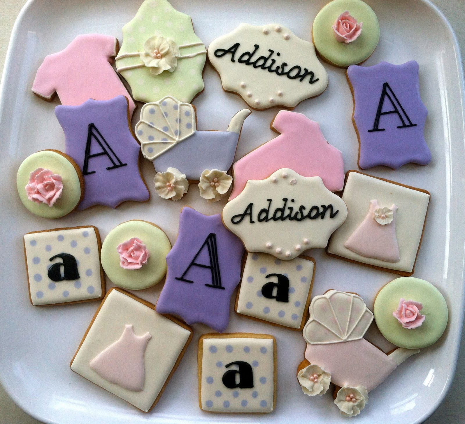 Baby Girl Baby Shower Cookies